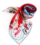 Lady′s 100% Natural Silk Printed Scarf (103)