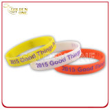 Promotion Gift Custom Debossed Color Fill Silicone Bracelet