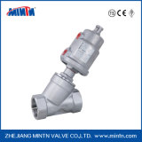 Manufacturer Stainless Steel 2 Way Pneumatically Operated Angle Seat Valve with Positioner