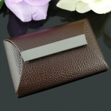 New Design Fashion Brown Leather Business Card Case