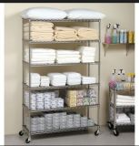 NSF Chrome Metal Hotel Storage Rack for Commercial
