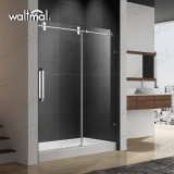 "Shower Door 1/2"" Tempered Glass Large Stainless Steel Wheel Sliding Soft Closing"