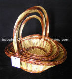 Colorful Wicker Basket for Christmas