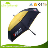 High Quality Windproof Double Layer Full Body Hit Color Golf Umbrella