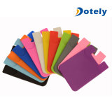 Silicone Credit Card Pocket Money Pouch Holder Case for Cell Phone