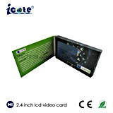 Newest Design 2.4 Inch LCD Video Brochure Video Card for Exhibation