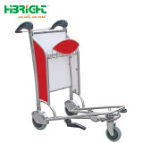 Passenger Luggage Trolley with Hand Brake for International Airport