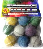 Color Smoke Ball Fireworks (clay shell)
