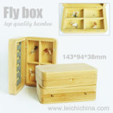 Bamboo Wooden Fly Fishing Box Compartment