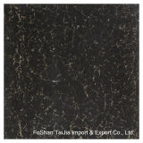 600X600mm Building Materials Black Pilate Polished Porcelain Floor Tile (TJ6204)