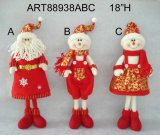 Standing Santa Snowman Christmas Christmas Decoration Toys-3asst