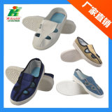 Jeans/Blue Canvas/White PVC Linkworld Antistatic ESD Safety Work Shoe for Cleanroom
