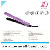 LED PTC Hair Straightener Woth Ceramic Floating Plates and Lockable Handle