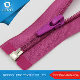 #3 Plastic Stopper Open End Zipper Auto Lock Nylon Zipper