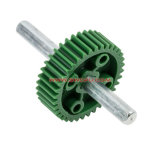 CNC Machined High Precison Oil Proof Worm Gear / Chain Gear Cogs with Shaft