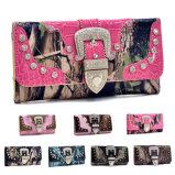 Ss16 New Designs Western Camo Lady Wallet