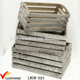 Crack Rustic Finish Antique Small Wood Crates Box