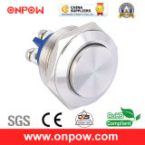 Onpow 19mm Metal Pushbutton Switch (GQ19SH-10/S, CCC, CE, RoHS Compliant)