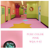 Anti-Slip Fireproof Vinyl Plastic Floor Pink Covering Roll Flooring