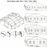 Outdoor Use White Big Event Medium Ridge Marquee Tents