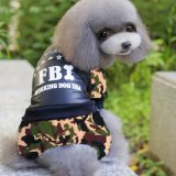 Wholesale Fbi Cotton-Padded Four Legs Pet Clothes Dog