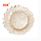 2019 Hot New Microwave Safe Best Selling Wedding Service Dinner Plate Gold Rimmed Royal Bone China Dishes Plate