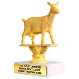 Customized Gold Animal Shape Sport Trophy