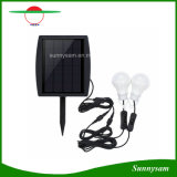Two LED Bulbs Lamp Indoor Outdoor Solar Powered Light for Garden Camping