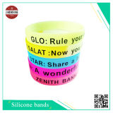 Customized Silicone Wristband with Silk-Screen Printing