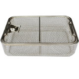 304 316 Stainless Steel Medical Sterilization Basket with Lid
