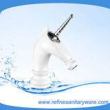 Horse Style New Look Basin Mixer with White Color (R2014M-W)