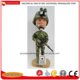 Resin Soldier Figure Bobble Head Crafts for Polyresin Home Decoration Gifts