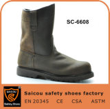 Heavy Industrial Acid Resistant Goodyear Welted Leather Safety Boots Sc-6608