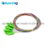 FTTH Sc/APC 12 Core Sm 9/125 Fiber Optic Pigtail