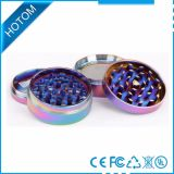 Rainbow Color 4 Parts Metal Herb Grinder Gor Girl Wholesale Custom Logo