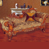 Living Room Furniture Set with Wooden Chaise Lounge (92A)