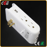 LED Wall Lamp Style Electrical USB Fast Charging Port and Socket USB with Night Light