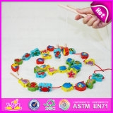 2015 New Arrival Cheap Kids Fishing Game Toy, Colorful Children Fishing Pole Toy, Christmas Gift Wooden String Fishing Toy W01A084