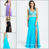 Chiffon Bridesmaid Prom Gowns Blue Purple Black Lace Evening Fashion Dresses Mj16321