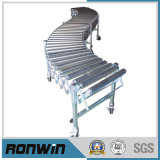 Expandable Free Curve Roller Conveyor for Material Loading/Unloading