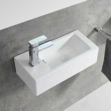 Bathroom Wall Hung Small Ceramic Hand Wash Basin for Project (5030L)