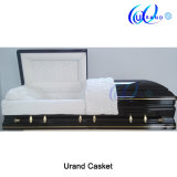 Golden Trim High Gloss Wholesale Distributor Casket and Coffin
