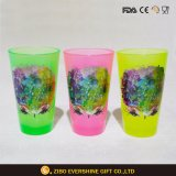 480ml Black Light Pink Pint Glass with Foil Decal