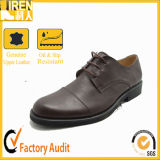 Fashion Brown Color Dress Military Army Police Officer Shoes