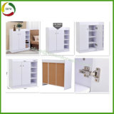 Two/One Door Wooden Melamine Board MFC Shoe Rotation/Cabinet