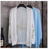 2017 New Arrival Long Sleeves Open Front Hot Flower Printing Cardigan Women