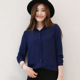 Hot Sale Women Shirts Long Sleeve Blouses Ladies Chiffon Blouse Tops The Office Ol Style Shirt