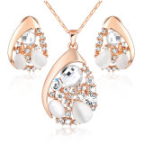 Latest Fashion Crystal 18K Gold Plated Alloy Jewelry Set