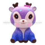 Squishies Cartoon Galaxy Deer Decoration PU Slow Rising Squeeze Squishy Kids Toy