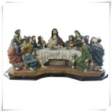 Polyresin Religious Statues, Rectangle The Last Supper Carving (IO-ca021)